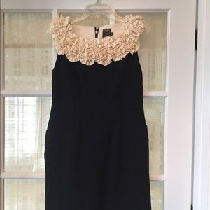 Taylor Black Dress with RUFFLE
